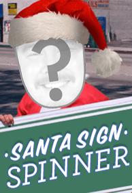 Santa Sign Spinner